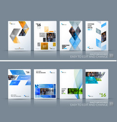 Business set brochure template layout vector