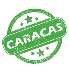 Caracas green stamp vector