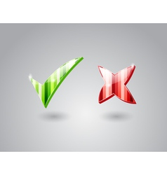 Check and cross marks vector image