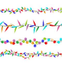 christmas lights garlands christmas vector image