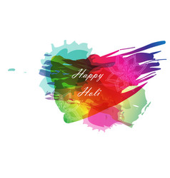 creative template for indian festival happy holi vector image