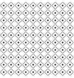 cute black modern flat flowers pattern on white vector image vector image