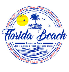 Florida summer t shirt graphic design vector