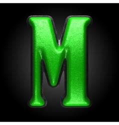 Green plastic figure m vector