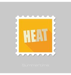 Heat flat stamp summer vacation vector