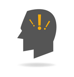 Mind icon of anxiety disorder vector