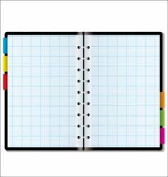 organizer graph vector image vector image