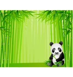 Panda in the bamboo forest vector
