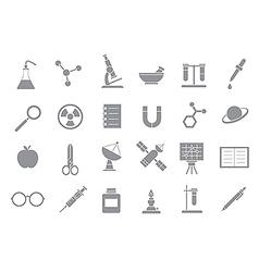 Sciense gray icons vector image vector image