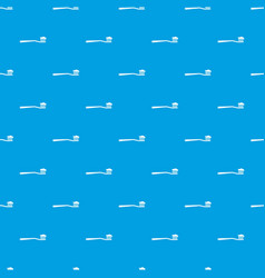 toothbrush pattern seamless blue vector image