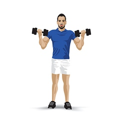 training dumbbell vector image vector image