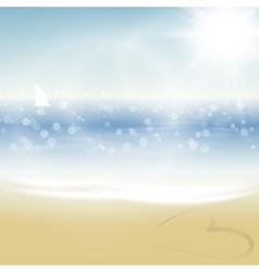 Tropical summer beach vector image