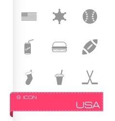 usa icon set vector image