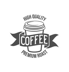 Vintage coffee badge logotyp vector