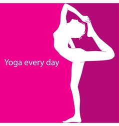 Yoga every day vector