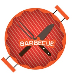 Barbecue label vector