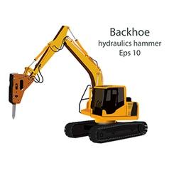 Hydraulics hammer vector
