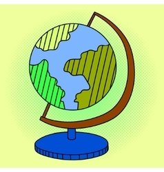 Globe Pop art vector image