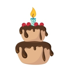 Cake birthday candle vector