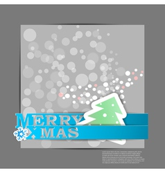 Blue merry xmas stripes card eps10 vector
