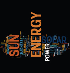 Great reasons to harness solar power text vector