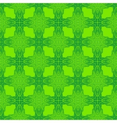 Spring green psychedelic sixties pattern vector