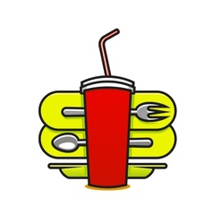 Fast food or takeaway icon vector image