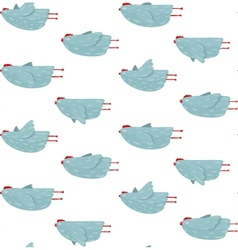 Funny hen flying seamless pattern background vector