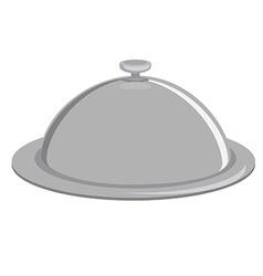 Grey tray vector image