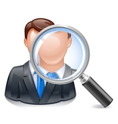 Search employee icon vector