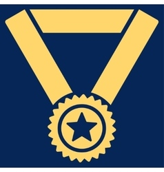 Winner medal icon from competition  success vector