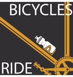 Bicycles ride vector