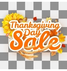 Thanksgiving day sale eps 10 vector