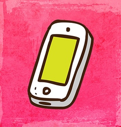 Iphone cartoon vector