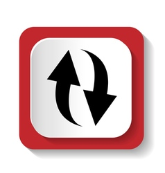 Rotation icon refresh sign vector