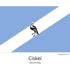 National flag of ciskei with correct proportions vector