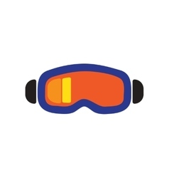 Flat web icon on white background ski goggles vector