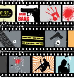 Movie scene vector