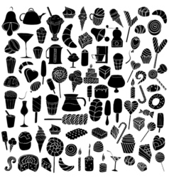 Black doodle elements vector
