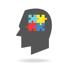 Autism mind icon vector