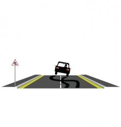 car skidding on road vector image