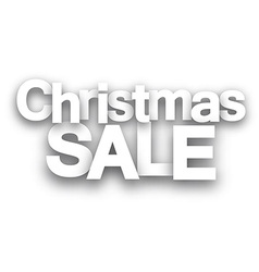 Christmas sale white paper sign vector