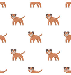 Dog single icon in cartoon styledog vector