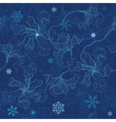 Floral background Christmas snowflakes vector image vector image