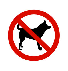 Forbidding signs no dog or pets vector