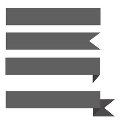 gray ribbon banner on white background ribbon vector image