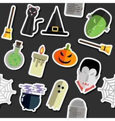 Halloween collage vector image