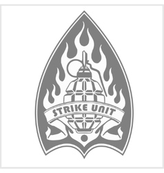 Military and biker patch isolated on white vector image vector image