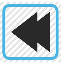 Move left icon in a frame vector