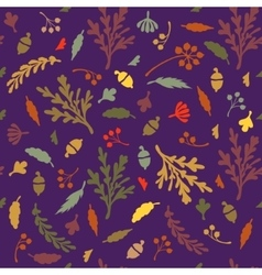 Pattern of leaves and plants vector image vector image